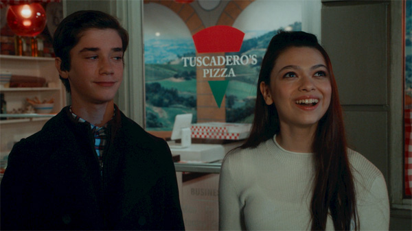 Nikki Hahn with Daniel Dimaggio in American Housewife